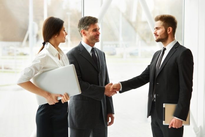 Business People. Successful Business Partner Shaking Hands in th